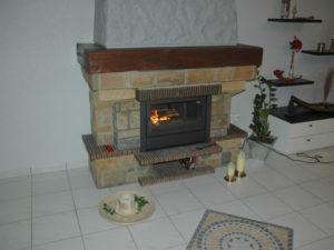 Камин Кантри с каминной кассетой Flam от Almod