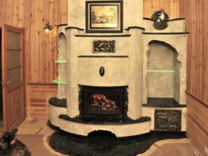 Эксклюзивный камин с гранитной облицовкой от Almod