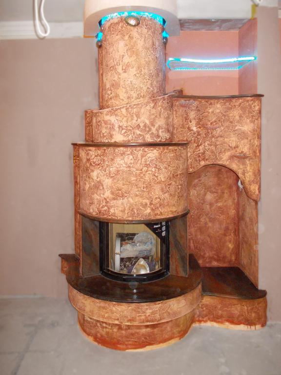 Эксклюзивный камин с морскими раковинами от Almod