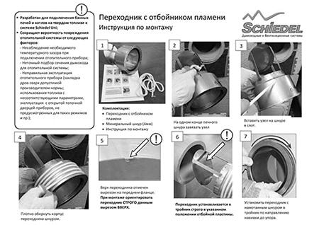 Инструкция по переходнику сталь-керамика от Schiedel UNI