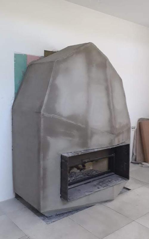 Камин сложной формы из силиката кальция