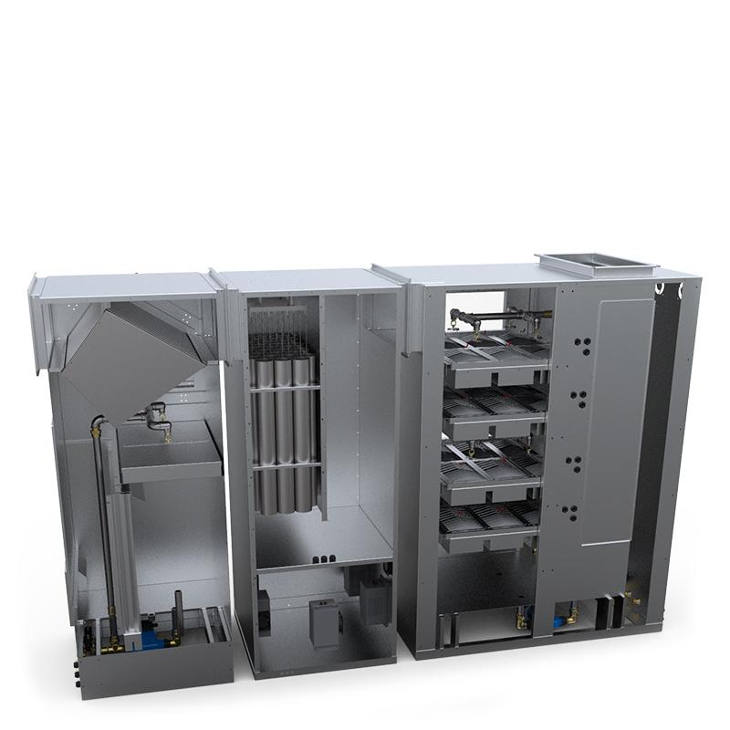 Конструкция комплексной системы очистки для кухни